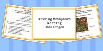 1 Week Y5 Literacy Metaphors Morning Activities PowerPoint