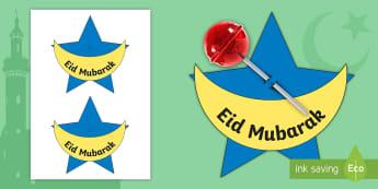 Eid Lollipop Gift Activity - Eid al-Fitr,KS1, Eid, 25th June 2017, islam, muslim, festival, ramadan, eid gift, lolly,