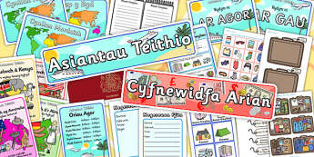 Welsh Language Travel Agents Role Play Pack - roleplay, languages