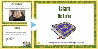 KS1 Islam and the Qur'an Teaching and Task Setting PowerPoint