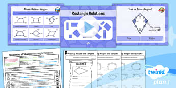 PlanIt Y5 Properties of Shapes Lesson Pack Properties of Rectangles (2) - Properties of Shapes, rectangles, quadrilaterals, 2D shapes, geometric shapes