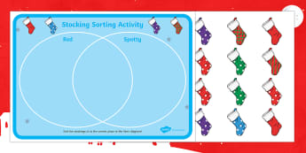 Venn Diagram Christmas Sorting Activity - venn diagram, venn, diagram, christmas, sorting, sort, activity