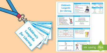 Lanyard-Sized KS1 Lovely Literacy Reminders Cards - writing, reminder, tips, how to improve your writing, types of words, conjunction, apostrophe