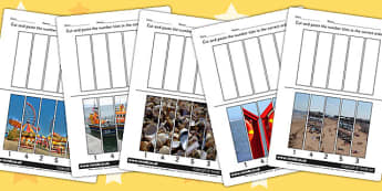 Seaside Themed Number Sequencing Photo Puzzles - numbers, order