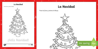 Merry Christmas Trace and Colour Activity Sheet