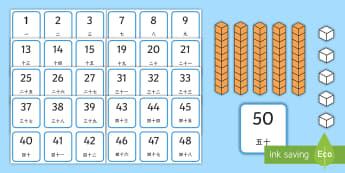 数字数位排列卡片 - 数位,排列数位,数字,数学,个位,十位,50以内数字