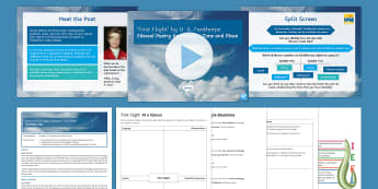 'First Flight' by U. A. Fanthorpe Introductory GCSE Poetry Lesson Pack - edexcel, poetry anthology, time, place, modern poetry, contemporary