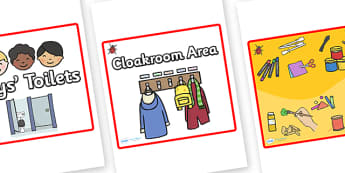 Square Classroom Area Signs (Ladybirds) - Classroom Area Signs, ladybird, ladybirds, KS1, Banner, Foundation Stage Area Signs, Classroom labels, Area labels, Area Signs, Classroom Areas, Poster, Display, Areas