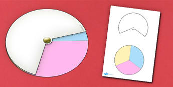 Interactive Notebook Spinner 1 3rd - paper craft, visual aid