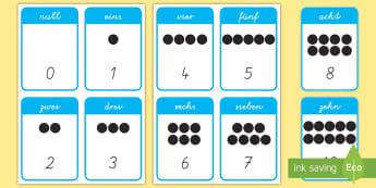 Stellenwert 1 bis 10 Wort-und Bildkarten - Zahlen, Mathe, Einer, Zehner, Rechnen, ,German