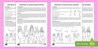 UKS2 Back to School Drama Teaching Ideas - improvisation, mime, new term, year 5, year 6