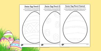 Easter Egg Pencil Control Activity Sheets Polish Translation - polish, easter egg, pencil control, activity, worksheet