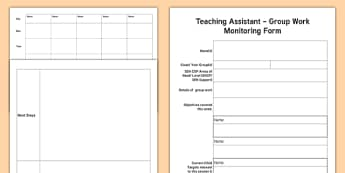 Teaching Assistant Group Work Monitoring Pro Forma