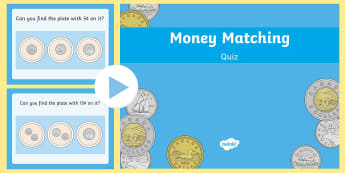 Coin Matching PowerPoint Activity -  money, coins, cents, canadian money, currency, canadian coins