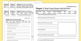 The Desperate Journey Differentiated Comprehension Questions
