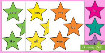 Tricky Words Editable Stars Display Cut-Outs - words, stars, tricky words, editable, colorful, decor