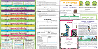 EYFS Treasures in the Garden Bumper Planning Pack - Early Years Planning, Twinkl originals, fiction, Plan, Adult Led, Foundation, Continuous Provision,