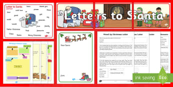 Writing a Letter to Santa Resource Pack - Christmas, Nativity, Jesus, xmas, Xmas, Father Christmas, Santa, St Nic, Saint Nicholas, traditions,