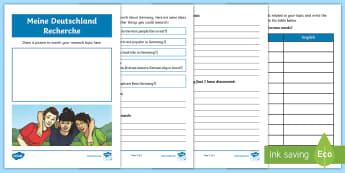 All about Germany KS2 Language Activity Booklet - German - Germany, German, MFL, Languages, Europe, KS3 German, German Culture, Deutschland, Deutsch