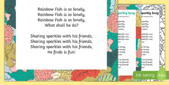 Sparkly Song to Support Teaching on The Rainbow Fish