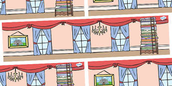 The Princess and the Pea Small World Background - The Princess and the Pea, Small World, backdrop, background, scenery, small world area, small world display, small world resources,prince, queen, princess, pea, castle, fairytale, traditional tale, Ha
