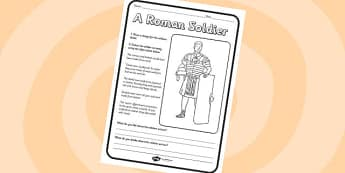 Roman Soldier Worksheet - roman soldier, romans, roman soldier, worksheet, roman worksheet, themed worksheet, history, history worksheet, soldiers