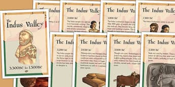 The Indus Valley Timeline Posters - bronze age, indus, valley