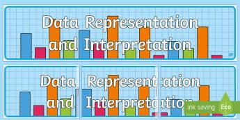 Data Representation and Interpretation Display Banner-Australia - Australian Curriculum Mathematics Display Banners, data, data representation, statistics, probabilit