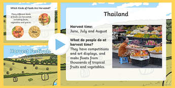 Harvest Festivals Around the World EYFS PowerPoint - festival
