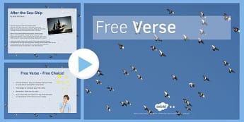 Free Verse PowerPoint - free verse, powerpoint, lower ability