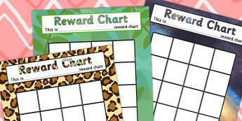 Reward Chart - rewards, award, praise chart, behaviour management