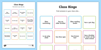 Class Welcome Transition Bingo Board - bingo, bingo board, class welcome, class welcome bingo board, welcome, transition bingo board, class welcome bingo