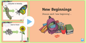 NI New Beginnings Discussion PowerPoint - new beginnings, transition, start, new class, discussion, talking And listening