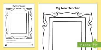 My New Teacher Activity Sheet - transition, early years, reception, year 1, parents, emotional support, Worksheet