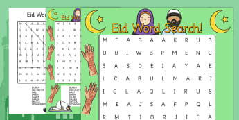 Eid Word Search - eid, word search, keywords, celebration, religion