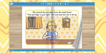 Goldilocks and the Three Bears eBook - books, interactive books