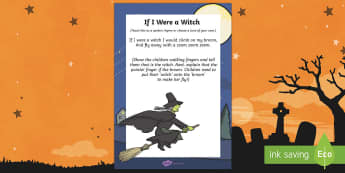 If I Was A Witch Rhyme - halloween, rhyme, eyfs, early years, witch, if I was a witch