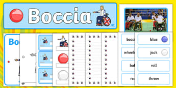 The Paralympics Boccia Resource Pack - Boccia, ball, Paralympics, sports, wheelchair, visually impaired, pack, resource, resources, 2012, London, Olympics, events, medal, compete, Olympic Games