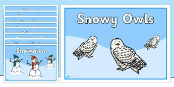 Editable Group Signs (Winter) - Group signs, group labels, group table signs, table sign, teaching groups, class group, class groups, table label, winter, seasons, ice, penguin, huskey, snow, winter, frost, cold, ice, hat, gloves