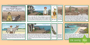 The Story of John 'Jack' Simpson Kirkpatrick and His Donkey Story Cards - Australian Requests, Simpson and his Donkey  Story Cards  English, anzac day, anzac, simpson and his