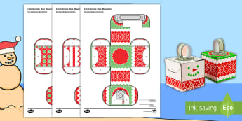 Simple 3D Block Baubles Christmas Decoration Activity Paper Craft English/Afrikaans - December, celebration, Christmas tree, make, Jesus, Kersboom, EAL