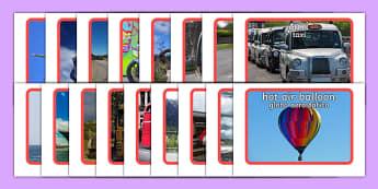 Transport Photo Pack Spanish Translation--translation