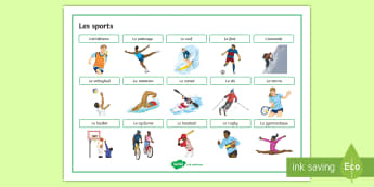 Sports Word Mat French - KS3, french, word mat, sports, leisure, freetime, passe-temps, vocabulary, keywords,French