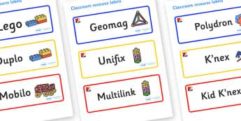 Mondrian Themed Editable Construction Area Resource Labels - Themed Construction resource labels, Label template, Resource Label, Name Labels, Editable Labels, Drawer Labels, KS1 Labels, Foundation Labels, Foundation Stage Labels