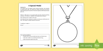 A Special Medal Activity Sheet - Amazing Fact Of The Day, activity sheets, powerpoint, starter, morning activity, people who help us,