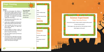 EYFS Magic Painting Science Experiment and Prompt Card Pack