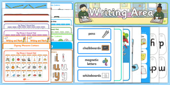 EYFS Writing Area Classroom Set Up Pack - eyfs, writing area