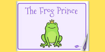 The Frog Prince eBook - book, interactive book, traditional tales