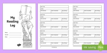 My Reading Log Booklet - novel, book, reading, reading log, book rating, star rating, english, worksheet, activity sheet, boo