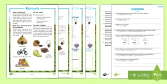 Fairtrade Differentiated Reading Comprehension Activity - KS2, comprehension, reading, reading comprehension, reading activity, Fairtrade, farmers, rural, com